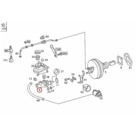 ATE製 ベンツ Cクラス W202 ブレーキマスターシリンダー/ブレーキマスター 0044303901 03202308253 C200 C220 C250 DIESEL C280