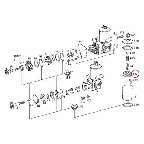 純正OEM Hengst製 ベンツ W124 W210 パワステオイルフィルター/パワステオイルエレメント E26h 0004661304 220E 230E 260E 280E 300E 320E