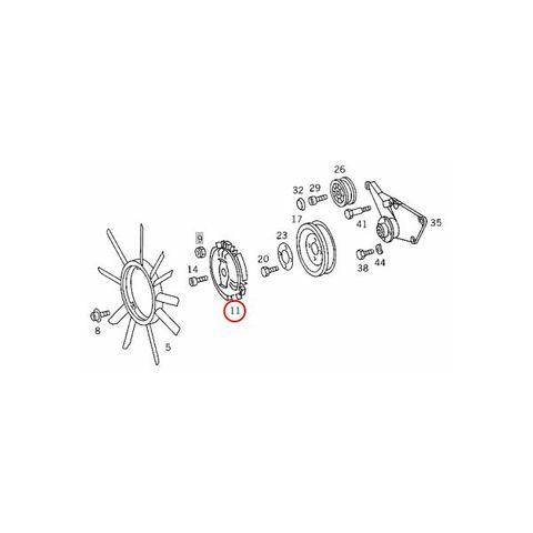 MEYLE製 ベンツ W126 W124 W201 ファンクラッチカップリング/ファンドライブ M103 M104 直6 0140200033 1032000422 1032000322