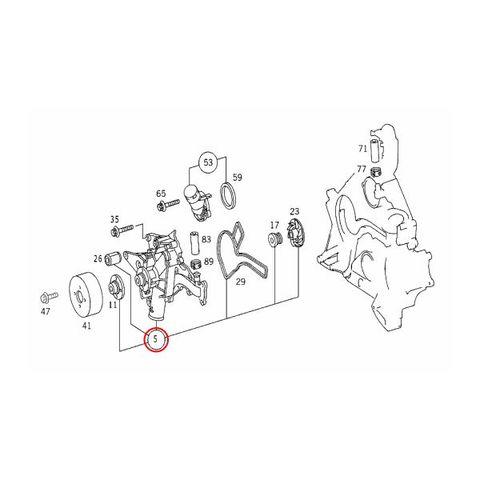 MEYLE製 ベンツ ウォーターポンプ M112(V6) M113(V8) ガスケット付き 1122001501 W220 W210 W211 W202 W203 W215 R129 R230