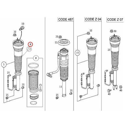 ベンツ Sクラス W220 フロント エアサスリペアキット & リペアツール(工具)セット BILSTEIN F4-RE4-A576-H0 A1119 S320 S350 S430
