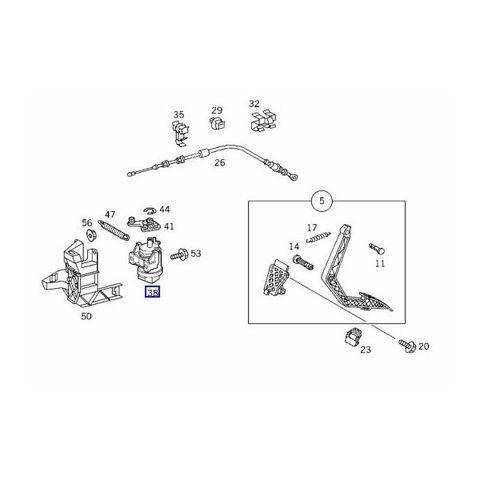 ベンツ Aクラス W168 アクセルペダルセンサー/アクセルセンサー 0125423317 6PV008496-411 A160 A190
