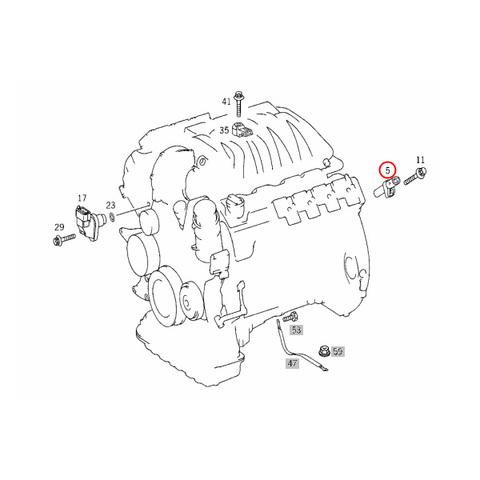 純正OEM BOSCH製 ベンツ Vクラス・ビアノ W638 クランク角センサー/クランクシャフトセンサー 0031532728 0261210170 0031532828 V230 V280