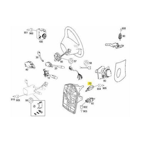 全国送料200円 ベンツ W169 Aクラス ブレーキストップランプスイッチ 0015452009 A170 A180 A200 A200_TURBO