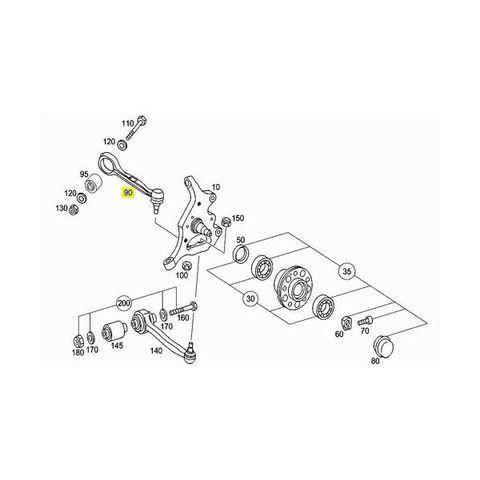 [送料無料] ベンツ Eクラス W207 高耐久 ラジアスアーム/ストラットアーム 左右セット TG 2043304311 2043304411 E250 E350 E550
