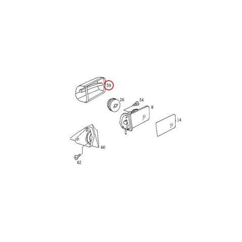 ベンツ W140(後期) Sクラス ドアミラーカバー/サイドミラーカバー 左右セット (未塗装) 2108110260 2108110160 S320 S400L S500 S500L S600