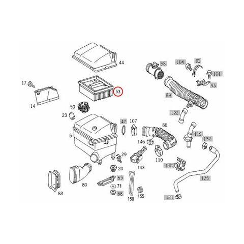 TOPRAN製 ベンツ W638 Vクラス エアフィルター/エアエレメント 111(直4) M104900(VR6) エンジン用 6380900151 401035 V230 V280