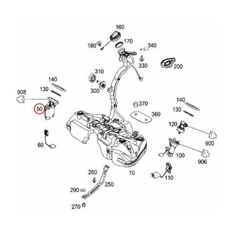 ベンツ W212 C207 A207 X204 燃料ポンプ/フューエルポンプ 2044701394 E250 E300 E350 E350_4MATIC E550 GLK300