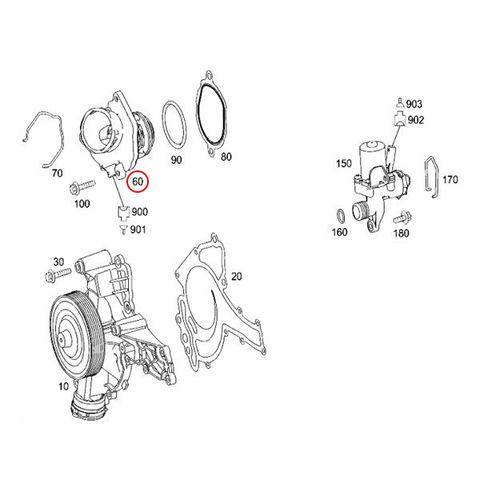 ベンツ X204 GLKクラス サーモスタット Oリング&ガスケット付き M272 V6エンジン 100℃開弁式 2722000415 2722000115 GLK300