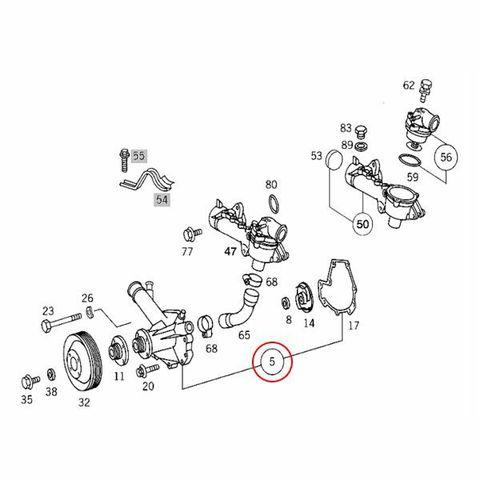 [6ヶ月保証] GRAF製 ベンツ CLKクラス W208 ウォーターポンプ M111 直4 エンジン用 ガスケット付き PA582 1112004001 1112000401 CLK200