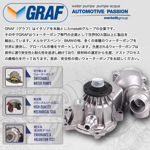 [6ヶ月保証] GRAF製 ベンツ Sクラス W220 ウォーターポンプ M112(V6) M113(V8) ガスケット付き PA710 1122000201 1122000401