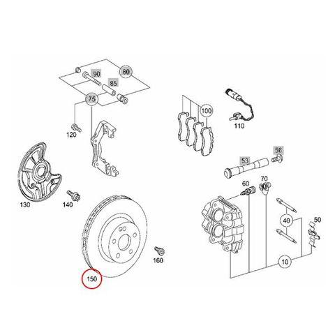 Metelli製 ベンツ X204 フロント ブレーキローター 左右セット 防錆仕様 2044212912 2114211412 2114211312 2114211012