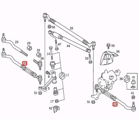 純正OEM LEMFORDER製 ベンツ CLクラス C140 ステアリングタイロッド ASSY 左右セット 1403300003 CL500 CL600