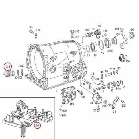 febi製 ベンツ W203 W204 AT ミッションエレクトリックプレート&プラグコネクター 722.6系 電子制御式5速AT用 1402701161 2035400253 C180 C240