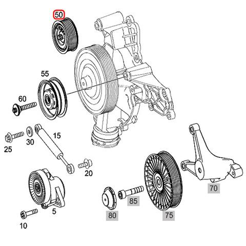 ベンツ SLKクラス R171 CLKクラス W209 アイドラプーリー/アイドルプーリー M272 V6 M273 V8 エンジン用 2722021019 SLK280 SLK350 CLK350