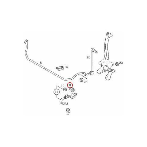 LEMFORDER製 ベンツ Sクラス W140 フロント スタビライザーブッシュ 左右セット 1403230985 3450401  S280 S320 S500 S600