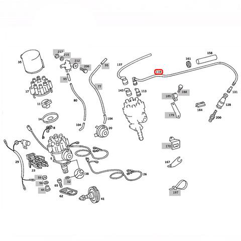 純正OEM BOSCH製 ベンツ  W116 プラグコード M116 M117 V8エンジン 1161500019 350SE M116983 450SE M117983 450SEL M117983