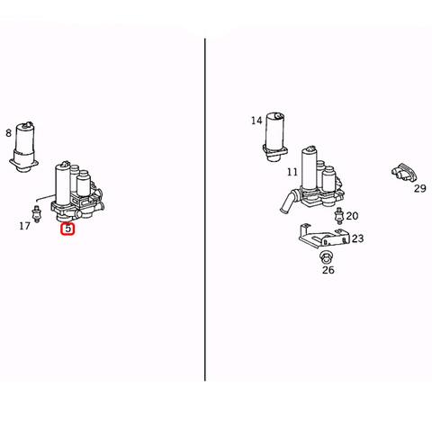 純正 ベンツ Sクラス W140 ヒーターバルブ/ウォーターバルブ 0018301484 300SE 400SEL 500SE 500SEL 600SE 600SEL