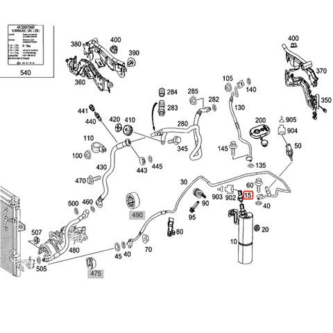[優良品]ベンツ W218 W219 リキッドタンク/コンデンサ/エアコンホース 圧力センサー 2110000283 0045429018 2205420118 CLS350 CLS500
