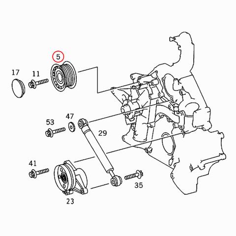 ベンツ W208 W209 アイドラプーリー/アイドルプーリー M112 M113 M272 OM612 エンジン 0002020919 0002020019 CLK240 CLK320