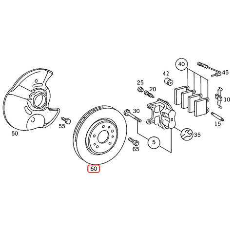 MEYLE製 ベンツ SLクラス R129 フロント ブレーキローター 左右セット 防錆 プラチナム仕様 1294212112 SL320 SL500 SL600