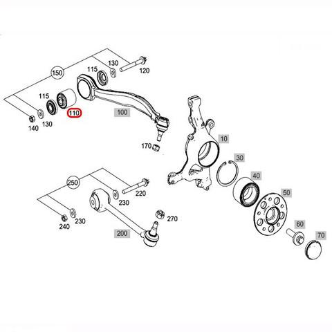 MEYLE製 ベンツ GLKクラス X204 フロント ラジアスアームブッシュ 左右セット HD.ver 2043331114 2033331014 2043331014 GLK300 GLK350
