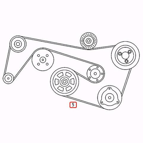 [優良品]ベンツ GLクラス X164 ファンベルト/Vベルト 6PK2390 6PK2392 0119979792 0029933096 0129977092 stk309 GL550