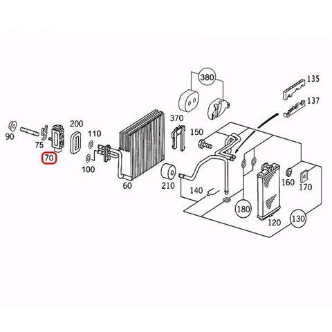 純正OEM Rein Automotive製 ベンツ Cクラス W204 エキスパンションバルブ 2308300184 C180 C200 C250 C300 C350 C63