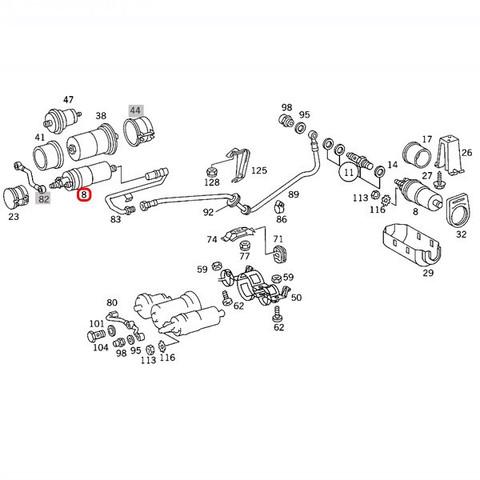 純正OEM BOSCH製 ベンツ 190クラス W201 燃料ポンプ/フューエルポンプ 0030915301 0020918801 BOSCH-0580254911 190E