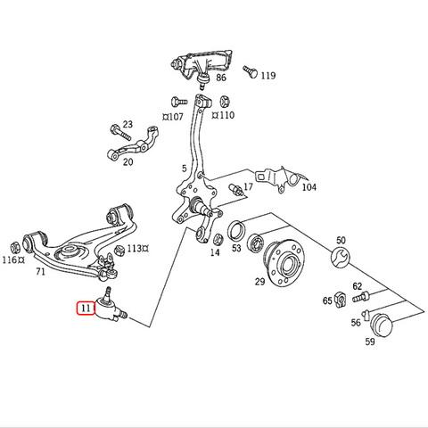 MEYLE製 ベンツ CLクラス C140 ロアアーム ボールジョイント 左右 2個セット HD.ver 1403330327 CL500 CL600