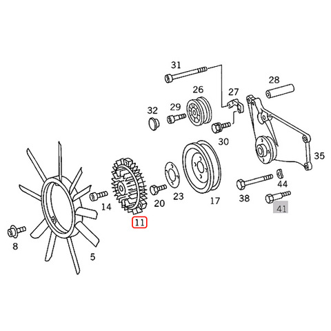 MEYLE製 ベンツ SLクラス R129 ファンクラッチカップリング/ファンドライブ M104 エンジン用 1032000622 SL320