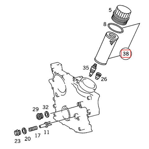 ベンツ Vクラス W638 エンジンオイルフィルター オイルエレメント 1041800109 1041800709 1041840225 1041840425 V230