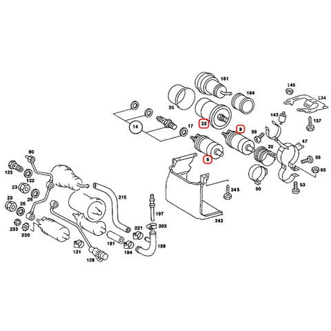 ベンツ Sクラス W126 燃料ポンプ&燃料フィルター 3点セット 0030915301 0020918801 0024774401 500SE 420SEL 560SEL