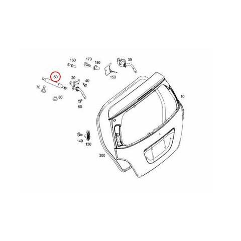 [6ヶ月保証] STABILUS製 ベンツ W251 リアゲートダンパー/ガスプレッシャースプリング 左右セット 2本 2517400045 2517400245 2519801064