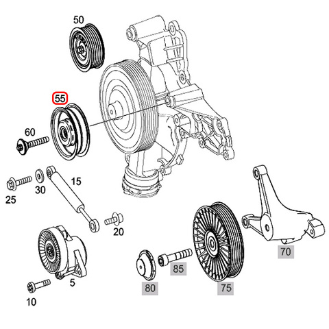 [優良]ベンツ SLKクラス R171 アイドラプーリー/アイドルプーリー M272 V6 M273 V8エンジン 2722021419 2722020719 SLK280 SLK350