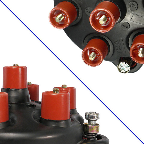 純正OEM BOSCH製 ベンツ W116 W126 M110エンジン用 ディストリビューターキャップ&ローター 0001583602 0001582231 280S 280SE 280SEL
