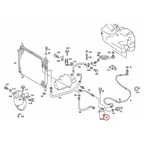 URO製 ベンツW126 AC/エアコンレシーバードライヤー/リキッドタンク 1268300083 1268300183 380SEC500SEC560SEC280SE300SD300SE500SE