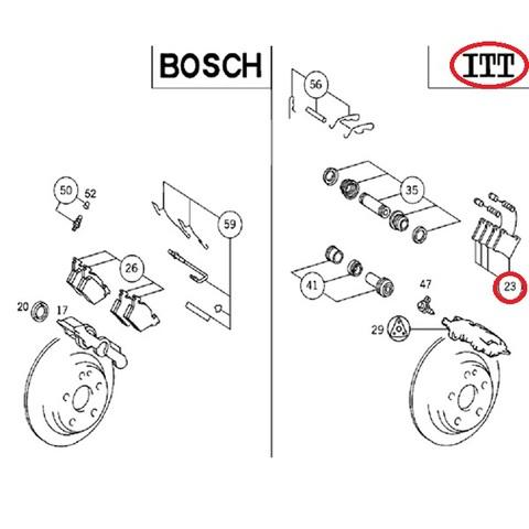 MAPCO製 ベンツ Vクラス W638 リア/リヤ ブレーキパッド ブレーキディスクパッド 左右セット 0024204820 0034200020 V230 V280