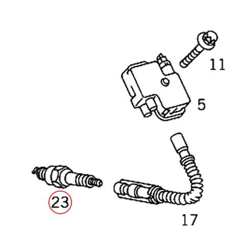 純正OEM BOSCH製 ベンツ Vクラス ビアノ W639 イリジウム スパークプラグ/点火プラグ 1本 M112 V6 M113 V8 エンジン用 0041595003 0031599403