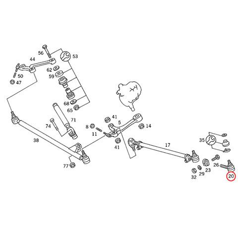 MEYLE製ベンツSLクラスR107ステアリングタイロッドエンド インナー側&アウター側セット左右共通 0003385310 0160200213 280SLC 350SLC 380SLC