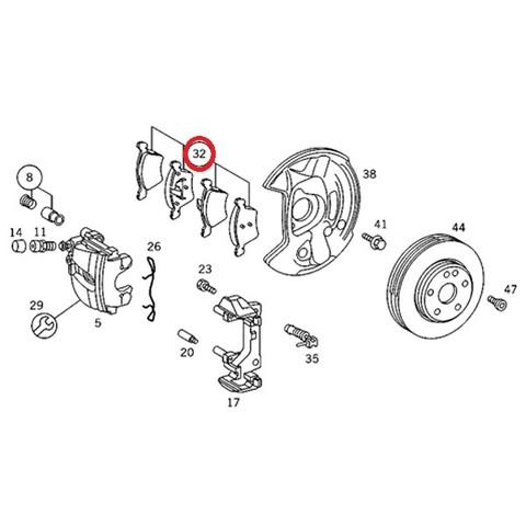 MEYLE製 ベンツ SLKクラス R170 フロント用 ブレーキパッド/ディスクパッド 左右セット 低ダスト 0024204420 0024209620 0044200220 SLK230