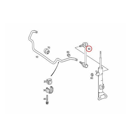 LEMFORDER製 ベンツ W209 フロントスタビリンクロッド/ベントラムサポート 左右 2033200489 2033202589 2033202889 CLK320 CLK350