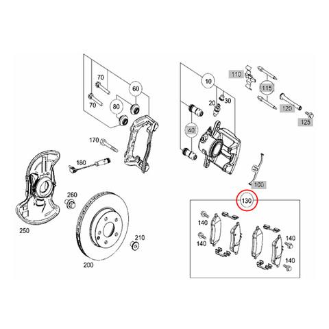 MEYLE製ベンツ SLKクラス R172 フロント用ブレーキパッド左右セット低ダスト0054200820 0054201520 0064207120 SLK200