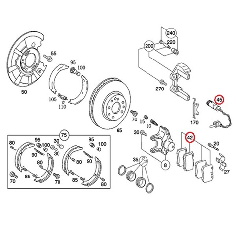 リア ブレーキパッド センサー付