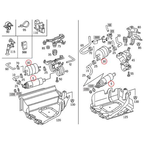 ベンツ 燃料ポンプ&フィルターセット