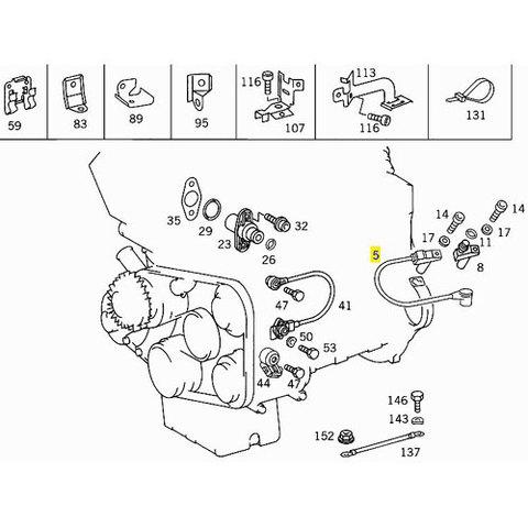 純正OEM BOSCH製 ベンツ W124 W202 クランク角センサー/クランクセンサー/クランクシャフトセンサー 0031534928 400E E400 E500 C200 C220 C280