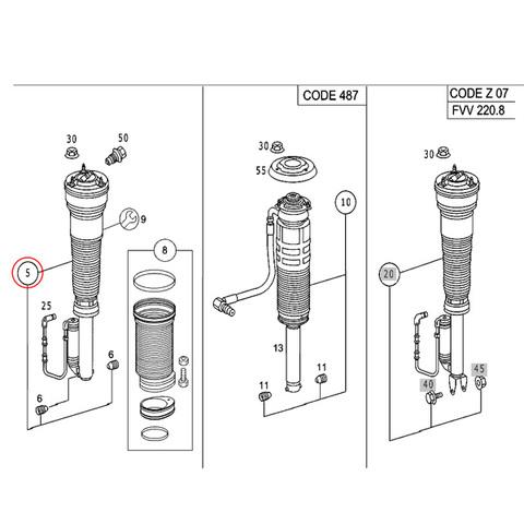 エアサスペンション左右共通&エアサスコンプレッサーセット