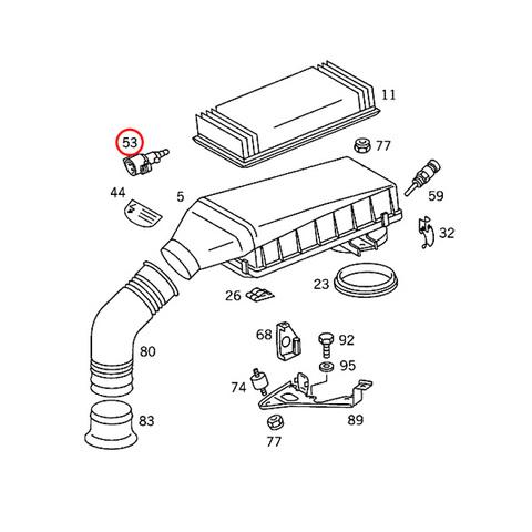 ベンツ 吸気温度センサー