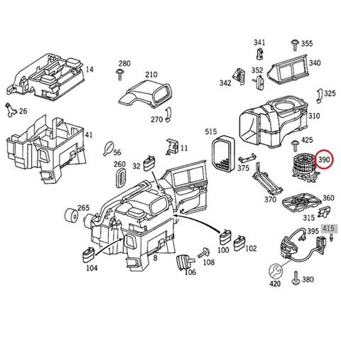 ベンツ W202 エアコン ヒーター ブロアモーター ブロアファン 左ハンドル用 2028209342 C200 C220 C230 C240 C280 C43AMG