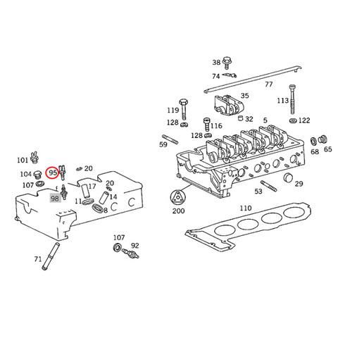 ベンツ エンジンクーリングファンスイッチ/温度センサー